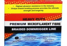 Scotty Premium Braided Fiber Downrigger Line with Kit (400 Feet)