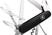Victorinox Swiss Army Huntsman Pocket Knife,Black