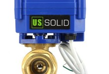 Motorized Ball Valve- 1/2″ Brass Ball Valve with Full Port, 9-24V DC and 2 Wire Reverse Polarity by U.S. Solid
