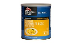 Mountain House #10 Can Precooked Scrambled Eggs w/Bacon (16 – 2/3 cup servings)